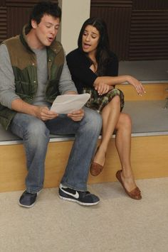 Still of Lea Michele and Cory Monteith in Glee, December 2009 ♥