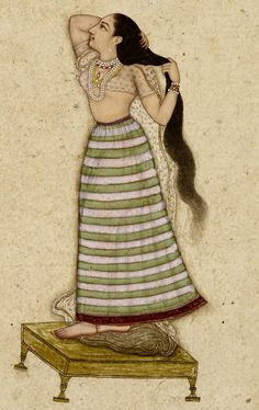 Nur Jahan had a daughter from her first marriage. She wanted her to wed Shahriyar, the son of Jahangir. Mughal Miniature Paintings, Mughal Paintings, Indian Paintings, Indian Traditional Paintings, Indian Women Painting, Indian Folk Art, India Art, Old Art, Asian Art