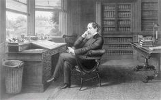 Charles Dickens in his study at Gad's Hill Place.