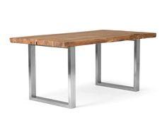 Esstisch Massivholz / Akazie im Industrial Design - versandkostenfrei bestellen auf: http://moebeldeal.com/industrial-und-shabby/tische/5743/industrial-moebel-esstisch-aus-massivholz-baumtisch