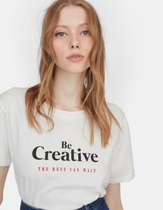 Smart trousers with belt - Trousers T Shirts With Sayings, Shirts For Girls, Cool T Shirts, Buy T Shirts Online, Cute Shirt Designs, Personalized T Shirts, Tee Design, Printed Shirts, Blouses For Women
