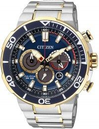 CITIZEN Eco-Drive Two Tone Stainless Steel Chronograph CA4254-53L μόνο 378.00€ #sale #style #fashion