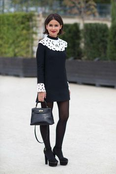 Miroslava Duma Street Style - Fashion Week Street Style - What: Valentino - When: Paris Fashion Week, September 2013