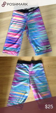 Nike shorts worn once Nike pro shorts size small great for running or biking Nike Shorts