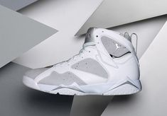 3a229bf057e Air Jordan 7 Pure Money Release Date. The Pure Money Air Jordan 7 comes  dressed in a summer-friendly White, Metallic Silver and Pure Platinum for  June