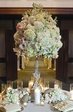 Wedding reception centerpiece idea; Featured Photographer: Jennifer Lindberg Weddings