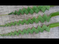 How to make palm beautiful stick (coconut tree leaves) Flower Garlands, Flower Decorations, Leaf Decoration, Flax Weaving, Flax Flowers, Coconut Leaves, Palm Tree Leaves, Modern Flower Arrangements, Leaf Crafts