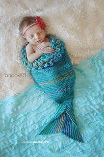 Mystic Mermaid Cocoon {Free Crochet Pattern} by B.Hooked Crochet