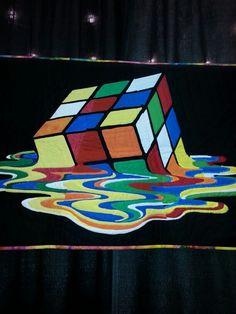 Rubik cube quilt