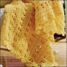 Sunshine Lace Afghan