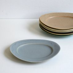 Oval Plate S/Blue mat /Awabi ware 14004015S4 by Awabiware on Etsy