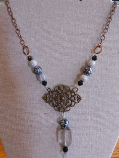 Hey, I found this really awesome Etsy listing at https://www.etsy.com/listing/240119166/handmade-vintaj-inspired-necklace-black