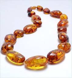 Baltic Amber Beads Necklace These look like mine that I bought from a Yard Sale for $2 A.W.