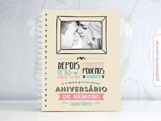 Photobook 1 ano de Namoro - photobook, personalizado, scrapbook, casal, namoro, 1 ano, aniversário, namorados, namorada criativa
