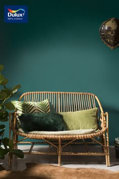 Give your living space the luxe look with jewel like tones! This emerald shade works perfectly with wicker furniture and leafy prints.