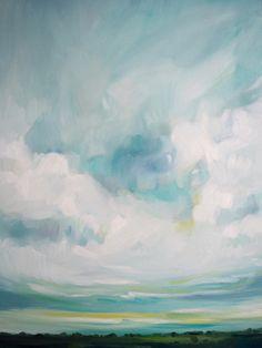 Unmapped Territory by Emily Jeffords - beautiful original painting; reminds me of prairie skies.