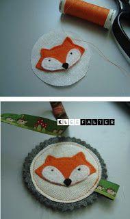 Kleefalter: DIY:  Schlüsselanhänger Fuchs und Waschbär