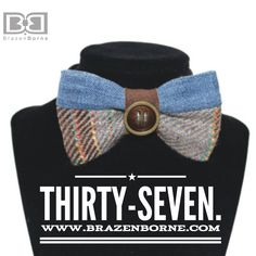 37 | Is cute as a button!! Suede | Wool | Denim Bow tie What's not to love?! 🖤
