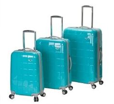 I want to buy one of these hard shelled suit cases for future travel.  I'd prob get purple =)