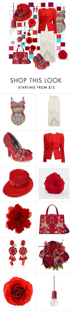 """""""Meeting to Play"""" by mary-kay-de-jesus ❤ liked on Polyvore featuring River Island, Irregular Choice, Roland Mouret, Swan, Saro, Gucci, Ranjana Khan, NOVICA, Puik Art and Rodin"""