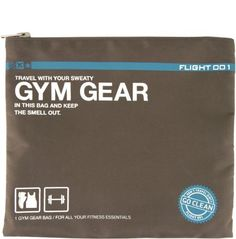 This Go Clean Gym Gear bag is the perfect travel pack for the regular jet-setter. The heavyweight washable nylon material conceals odours and contains your sweaty gym mess, making packing (and unpacking) simple and sanitary. Gym Gear, Workout Gear, Workouts, Travel Luggage, Travel Bag, Workout Essentials, Luggage Accessories, Tech Accessories, Paper Trail