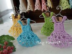 Premium Colors なワンピース |Tiny Flowers* にゃんことてしごと ~猫とタティングレース~