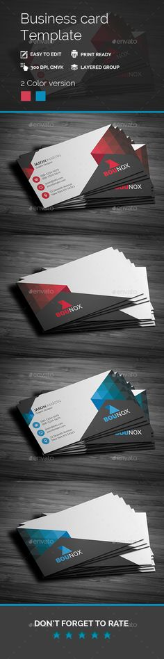 Modern Style Corporate Business Card - #Business #Cards Print Templates Download here: https://graphicriver.net/item/modern-style-corporate-business-card/19503743?ref=alena994