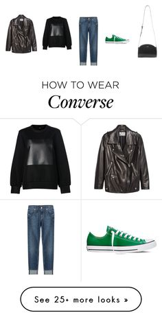 """""""Untitled #3158"""" by memoiree on Polyvore featuring Acne Studios, Alexander Wang, 7 For All Mankind, Converse, A.P.C., women's clothing, women, female, woman and misses"""