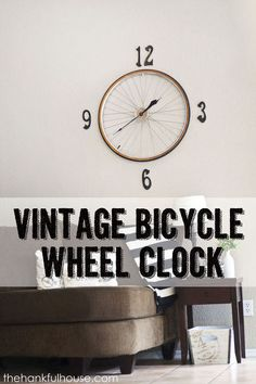 vintage bicycle wheel clock, home decor, repurposing upcycling, wall decor DIY Welcome Door Signs, Mirror With Hooks, Bicycle Wheel, Bicycle Clock, Bicycle Decor, Old Wagons, 3d Cnc, Cool Clocks, Little Corner