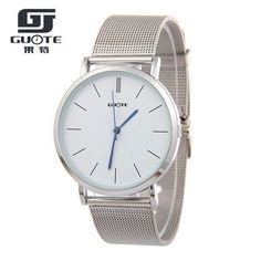 Fashion Gold Women Watch Men Elegant Casual Steel Mesh Quartz Watches Ladies Boutique Geneva Wristwatch Silver