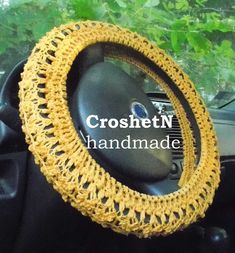 Car Accessories Car Gifts Crochet Wheel Cover Car Decor Wheel Cover for car Steering wheel cozy Wheel cover Steering wheel cover H18064-130
