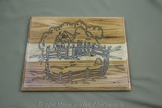 engraving, wood, corral, ranching | Lone Star Engravers