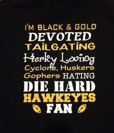 Devoted Iowa Hawkeyes Fan Hooded Sweatshirt