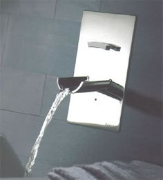 Bongio Acquaviva, wall mounted bathroom tap for the washbasin. Available in three spout options