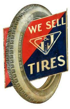 G&J Tires Flange Sign