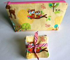 Bamboo Make Up Pads and Make up Bag  Eco Reusable by madebymum1, £12.00