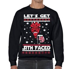 Star Wars Ugly Christmas Sweater Lets Get Sith Faced