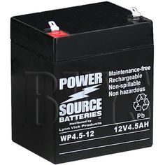 WP4512 Sealed AGM 12v 45ah Battery T1 187 terminals replaces PS1250 F1 BP4512 T1 12CE5 GP1245 F1 CF12V45 ELK1250 ELB 1250A CA1240 CA1245 PE12V45 BSL1055 SLA1055 ES412 ES512 F1 LCR125P SLA412 SLA512 UT1240 UB1250 F1 WKA125F NP412 NP4512 -- For more information, visit image link.