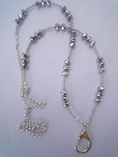 Silver Lanyard - At Lanyard Elegance, we design beautiful jewelry lanyards for the professional woman.  Shop www.lanyardelegance.com