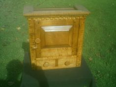 Tiger maple small size hanging cupboard