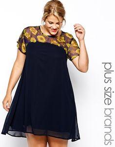 AX Paris Plus Size Dress In Floral Print