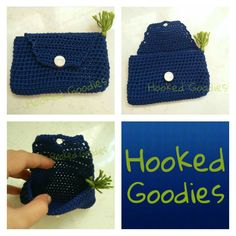 Credit/ Debit Card Holder Coin Purse, Goodies, Card Holder, Purses, Wallet, Crochet, Cards, Products, Sweet Like Candy