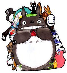 Totoro Shares Pocky by Panda-Yuki.deviantart.com on @deviantART