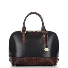 The Vault Collection - Vivian Dome Satchel in Black Tuscan    my new favorite bag...