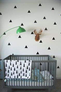 Trendy Kids Decor on a Budget: Black-on-White Wall Decals   Apartment Therapy