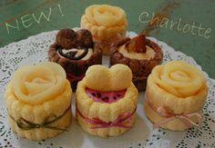 Mini Charlotte set   salon de Emu Charlotte cake like a flower Charlotte Cake, Types Of Desserts, Stale Bread, Fruit Puree, Icebox Cake, Biscuit Cookies, Emu, Sponge Cake, Trifle