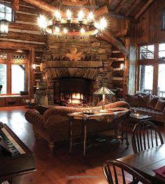 Rustic Elegance: Ralph Kylloe:   Corner Fireplace
