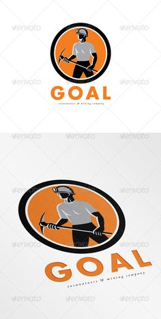 Goal Mining Company Logo — Vector EPS #side #Goal Mining Company • Available here → https://graphicriver.net/item/goal-mining-company-logo/7648487?ref=pxcr
