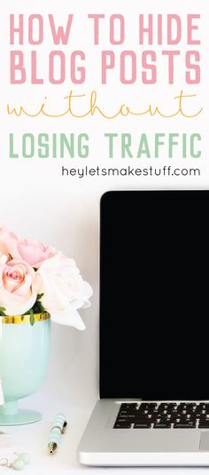 Learn the secret to hide posts on your blog without losing traffic from Pinterest and other sources! Learn this and other blogging tips and tricks on TECH TUESDAY.