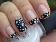 Star Print French Manicure